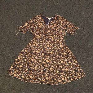 Brand new Vine & floral dress, gold & black, Sz 2X